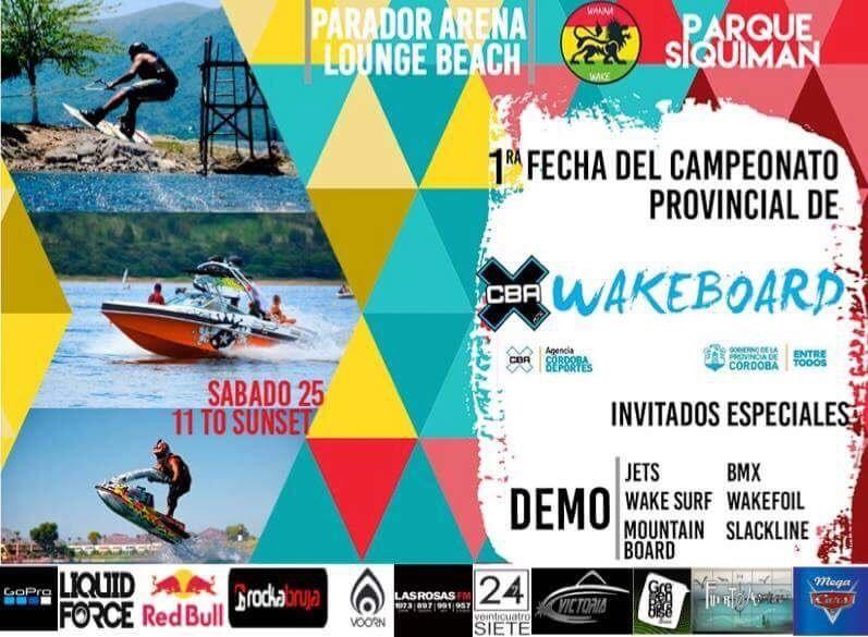 Campeonato Provincial de Wakeboard en Lancha Cordoba!